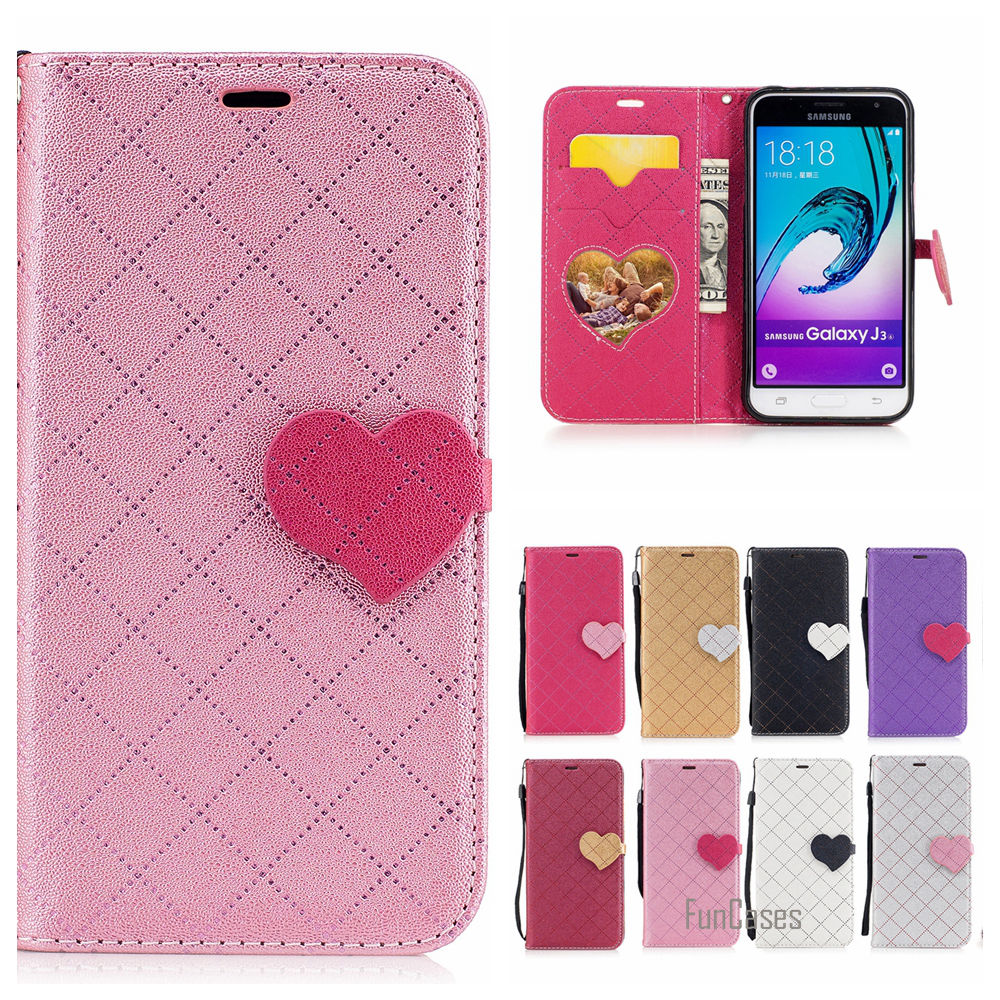 Luxury Hit Color PU Leather Case For Samsung Galaxy J310 Magnetic Flip Caso Capa For Sam ...