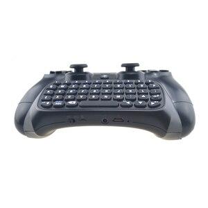 Image 5 - Mini Bluetooth kablosuz klavye için PS4 Joystick Chatpad için Sony Playstation 4 için PS4 denetleyici