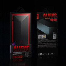 Remax Aliens Power Bank 5000mah Portable External Battery Slim USB Powerbank 5000 For Mobile Phone Laptop Notebook  Pover Bank