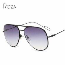414aa85e69a2a ROZA Óculos De Sol Dos Homens Da Marca Designer de Cobre Quadro Ultra-leve  Lente UV400 Óculos de Sol Retro Revestimento QC0483