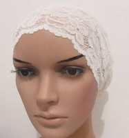 ih039 большой эластичного кружева мусульманские головные уборы, который может охватывать все волосы в различных цветах для бесплатной доставкой