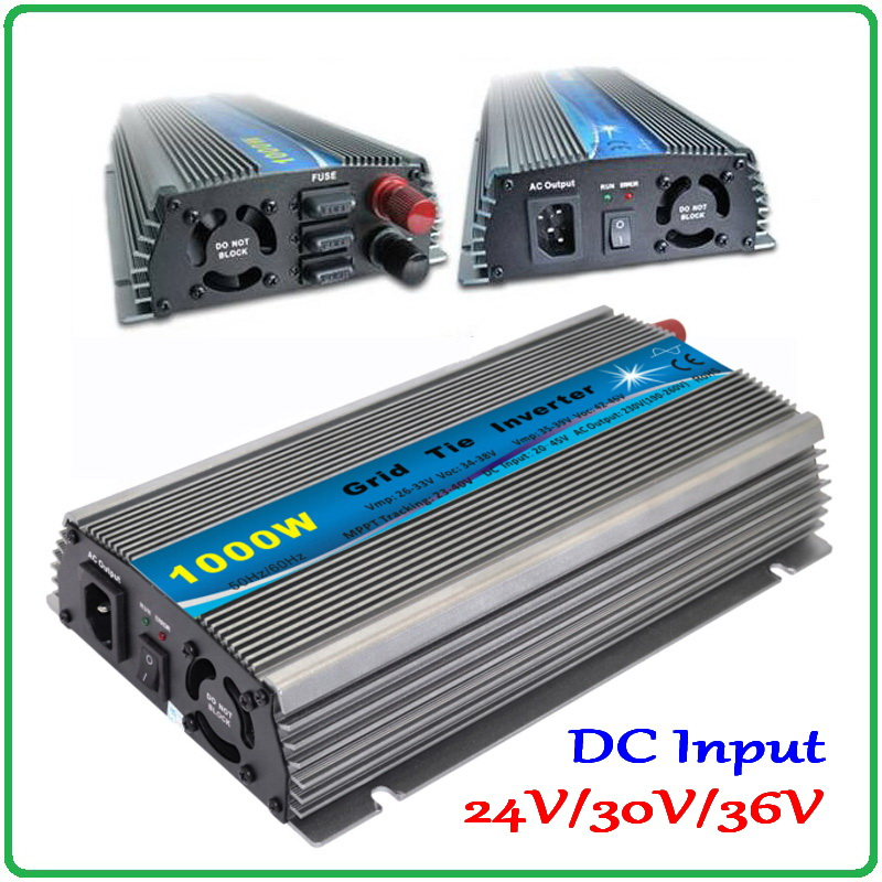 1000W Grid Tie Inverter MPPT Function, 20-45VDC to AC190-260V or 90-140V Pure Sine Wave Output Micro on grid tie inverter 1000W new 600w on grid tie inverter 3phase ac 22 60v to ac190 240volt for wind turbine generator