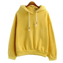 All-match sleeved sweatshirts hoodie hooded leisure thick candy hoodies solid loose