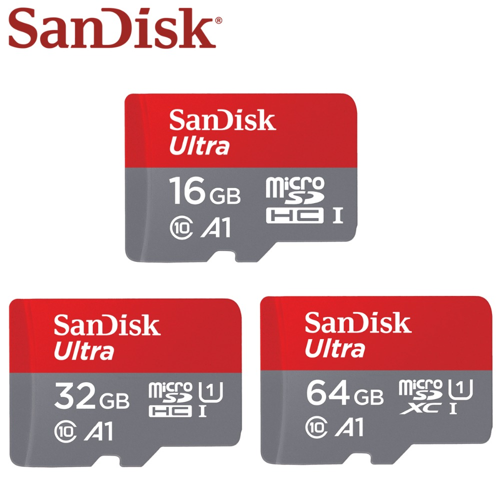 SanDisk Memory Card 64G 128G 16G SDHC EVO Plus MicroSD Micro SD C10 4K TF Trans Flash 32 GB Class 10 Phone Cards For Go Pro