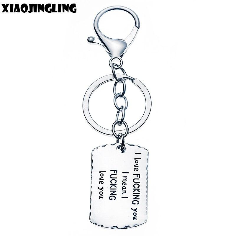 "Xiaojingling Шарм брелок личность Омар Коготь кольцо для ключей i означает, что я тебя люблю ""качество брелок пара подарки Валентина"