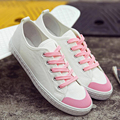 Autumn New Arrival Women Lady Fashion Students Casual Canvas Breathable Comfortable Female Teen Lacing Flat Shoes Plimsolls G051