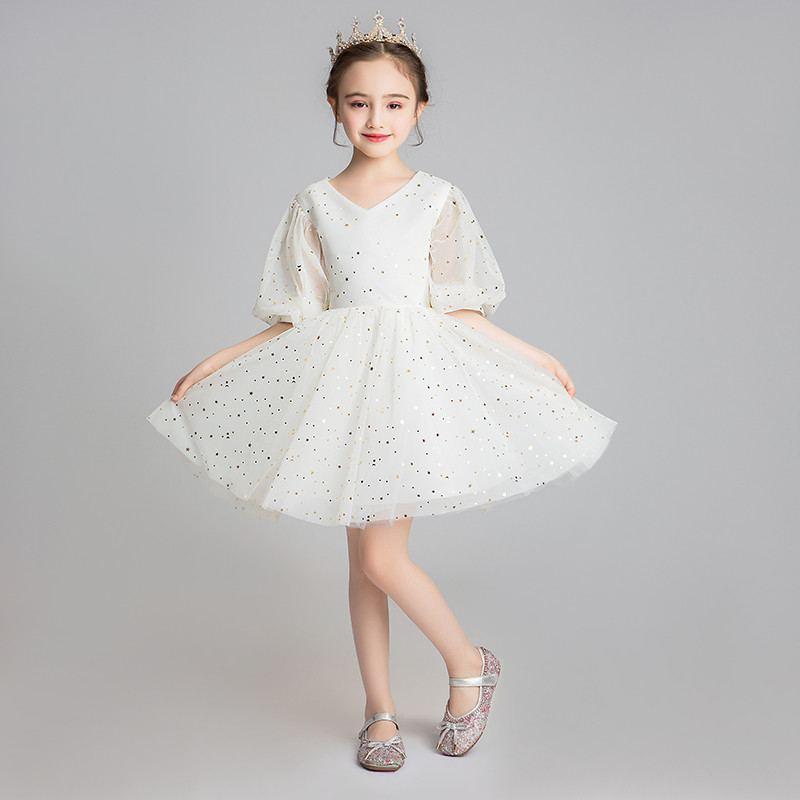 2019 New Children Girl Mesh Tutu Princess Dress Kids Dresses For Girls Wedding Birthday Party Toddler Girl Clothing Vestido F181