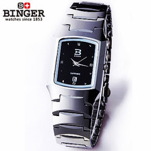 Switzerland New Binger Black Dial Square Ladies Girls Watch Analog Quartz Hours Christmas Gifts Wrist Watches