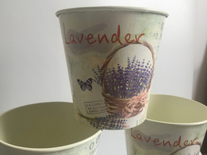 Image 2 - 6Pcs/Lot D10.5xH10CM Round Mini Vase Metal Table Centrepieces Lavender Design Flowerpot Flower pots SF 067