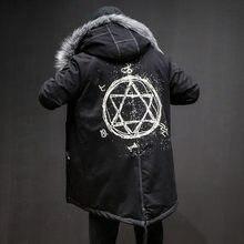 9d8500fa7c851 Прямая доставка США размер зимняя модная Толстая черная красная длинная  куртка мужская теплая более размер меховое