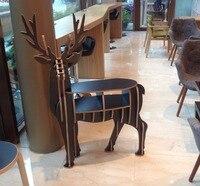 Деревянный олень стол олень книжный шкаф олень книжная полка L95 * W38CM * H123CM