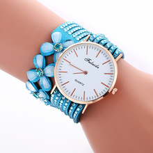 New Arrival Women Watches Luxury Fashion Leather Bracelet Watch Ladies Quartz Watch Casual Dress WristWatch Relogio Feminino gnova platinum fashion rainbow strap bracelet women watch ethnic wooden beads fashion dress wristwatch quartz relogio a890