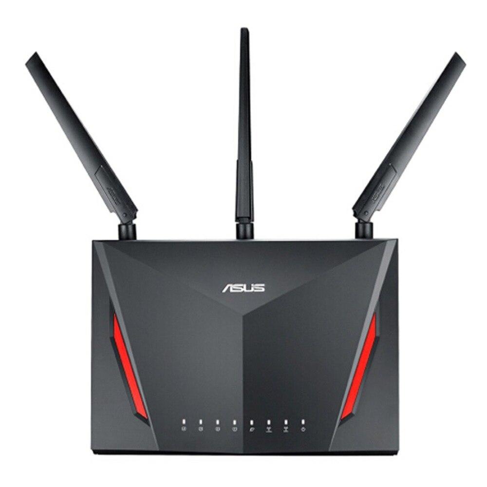 Asus Double-bande Sans Fil Gigabit Routeur avec 4-Port Gigabit LAN avec Trois Antennes Externes pour un Usage Domestique RT-AC86U