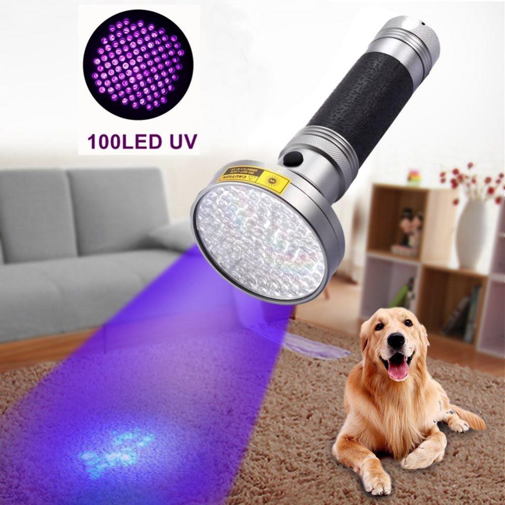 AloneFire Super 100LED High power UV Light 395-400nm LED UV Flashlight torch light uv lamp for 6xAAA