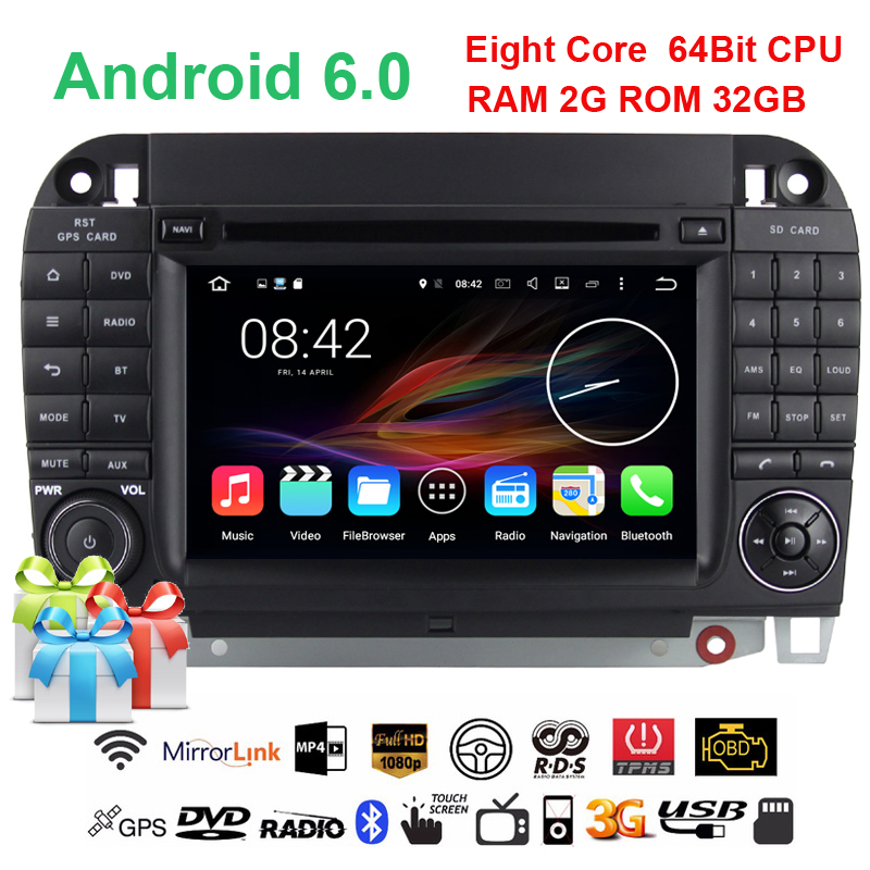 2G+32G Octa core Android 6.0.1 Car DVD for Benz S Class W220 S420 S430 S320 S350 S400 S500 S600 (1999-2005) CL-W215(1998-2005)