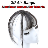 3D Air Bangs Invisible Synthetic Seamless Sea Head Hair Heat Resistant Wig Female Artificial Human Hair Material JINKAILI