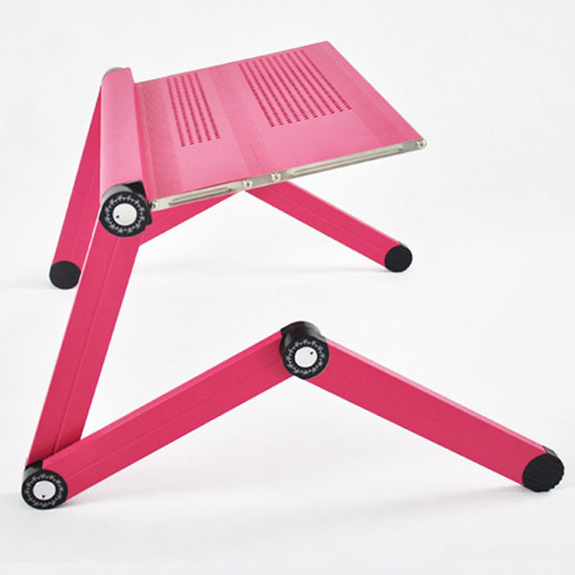 portable folding design aluminum laptop computer desk table with push joint plastic mouse pad for office aliexpresscom buy foldable office table desk