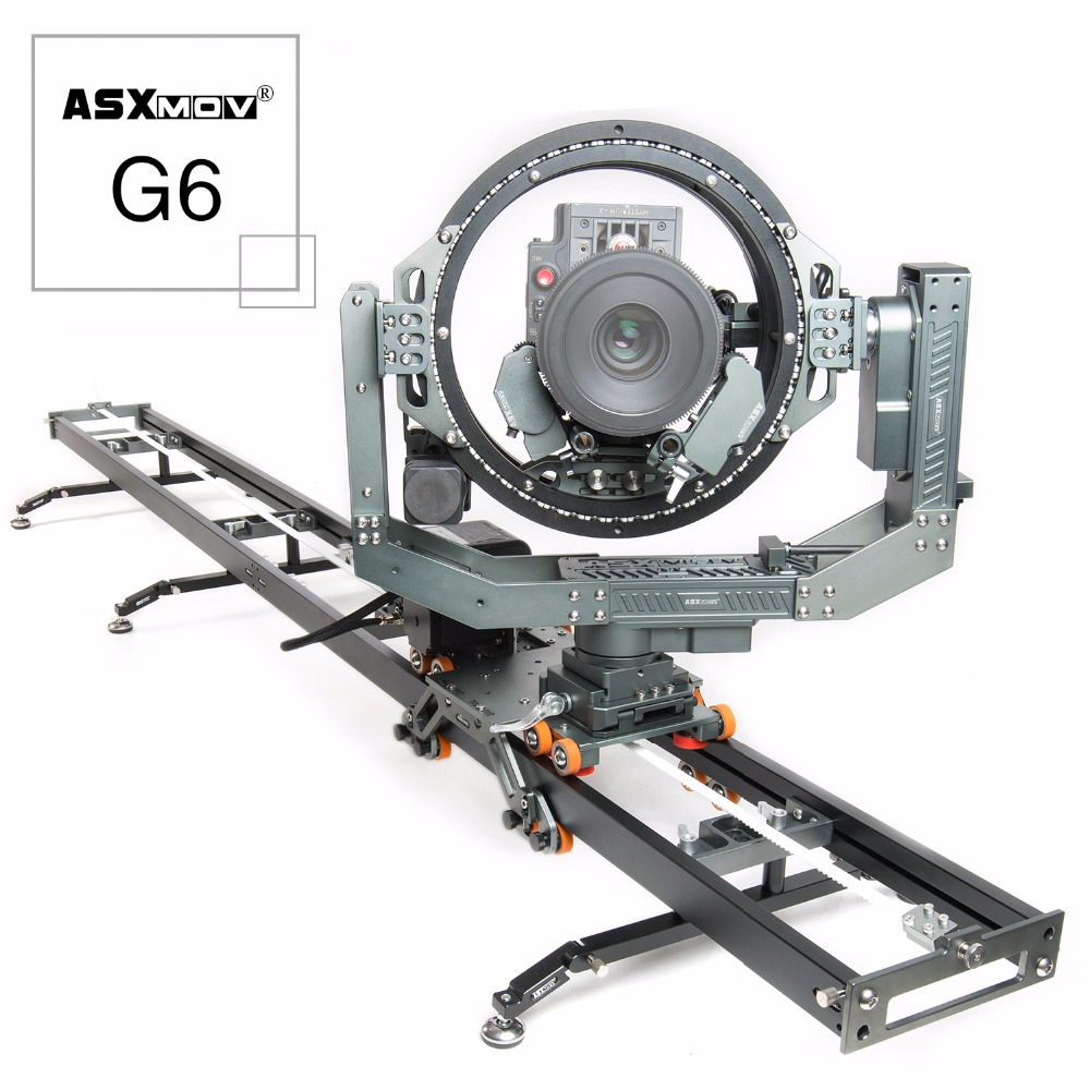 ASXMOV G6 6 axis aluminum rail track stop motion 3D head camera slider equipment for film shooting