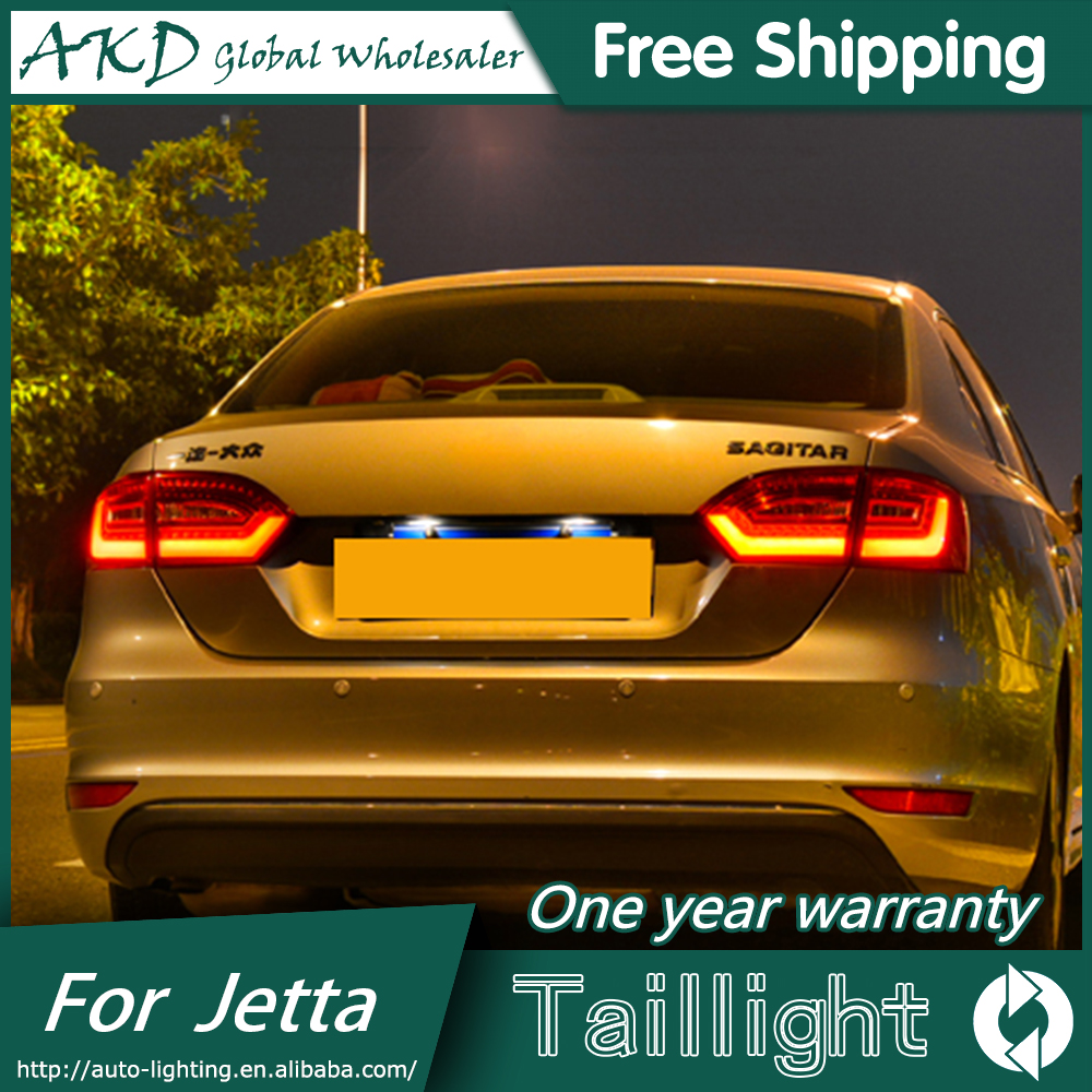 One-Stop Shopping Styling for VW Jetta Tail Lights 2011-2014 Jetta MK6 LED Tail Light LED Rear Lamp DRL+Brake+Park+Signal car styling tail lamp for vw jetta 2011 2014 tail lights led tail light rear lamp led drl brake park signal stop lamp