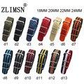 Zlimsn para nato nylon assista bracelete pulseiras de relógio da correia fivela de metal Esporte exército Mens Watchband 18mm 20mm 22mm 24mm Relojes Hombre 2017
