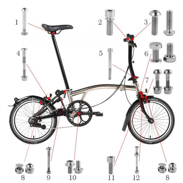 Bici Della Bicicletta Di Titanio Bulloni Viti Set Per Brompton