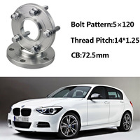 2pcs 5x120 72.5CB Centric Wheel Spacer Hubs M14*1.25 Bolts For BMW F20 F13 F01 F25 F11 F10 F12 F21 F15 F34 F02 F26 F33 F30