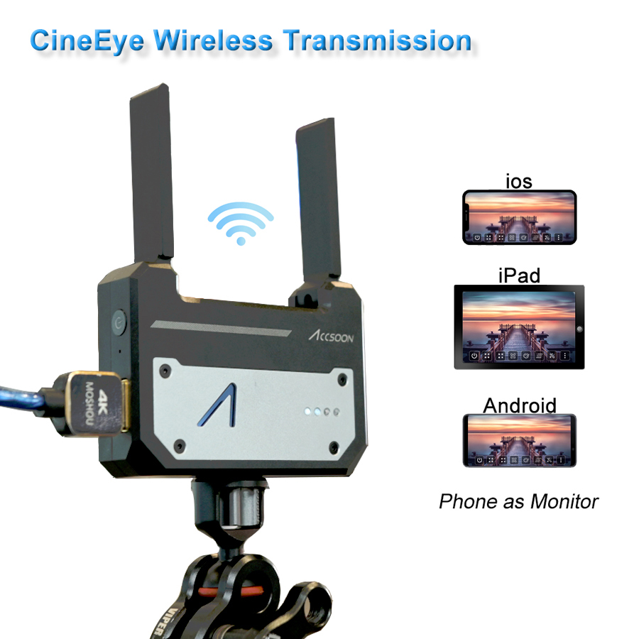 Accsoon CineEye Mini Wireless Video Transmitter 5G HDMI Wireless Image Transmission Device for Andriod Phone IOS iPhone iPad