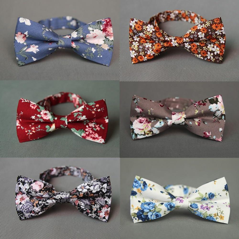 Mantieqingway नई फैशन ब्रांड टाई Bowties आरामदायक कपास मुद्रित धनुष टाई नी नेकटाई वेडिंग पार्टी के लिए