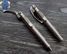 TC4 Titanium Alloy CNC Siphon Pen EDC Defense Pen Tactical Signature Micro-Technology Engraving Multifunctional Outdoor Gift Pen
