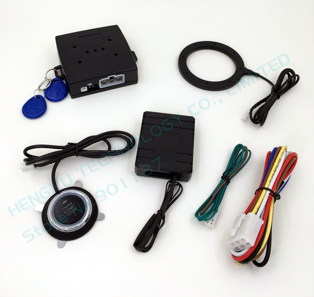 smart key RFID car system with finger push button start stop button and transponder immobilizer keyless entry system FS-55