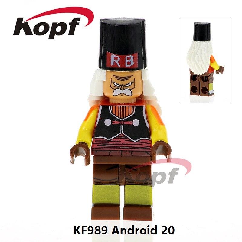 Один продажа Super Heroes Android 20 Dragon Ball Z цифры Mr. сатана Старт малыш Гоку ssj3 vegeta строительные Конструкторы дети Игрушечные лошадки kf989