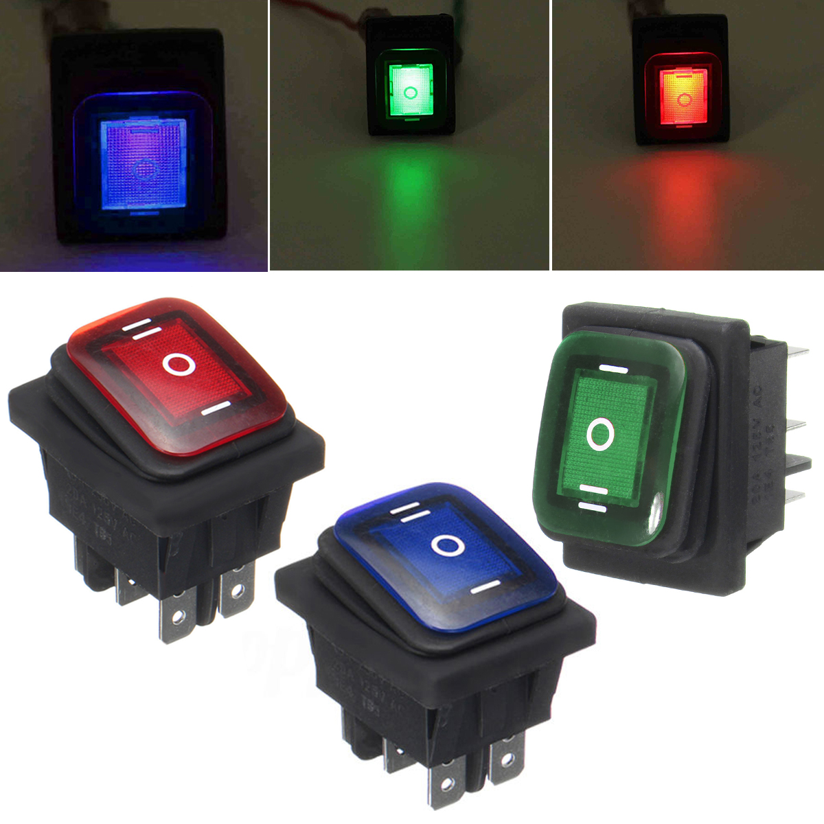1pc/2pcs Durable Rocker Toggle Switch Mayitr On-Off-On 6 Pins 12V DC Car Boat Automobiles Waterproof LED Latching Switches on off round rocker switch led illuminated car dashboard dash boat van 12v