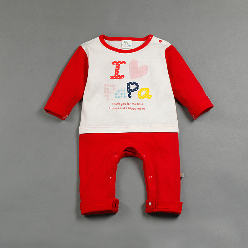 Valentine Day Clothing Cotton Long Sleeve Baby Jumpsuit Romper Spring Autumn Onesie Clothing for Newborn Infant Girls Boys HOT! spring autumn newborn baby rompers cartoon infant kids boys girls warm clothing romper jumpsuit cotton long sleeve clothes