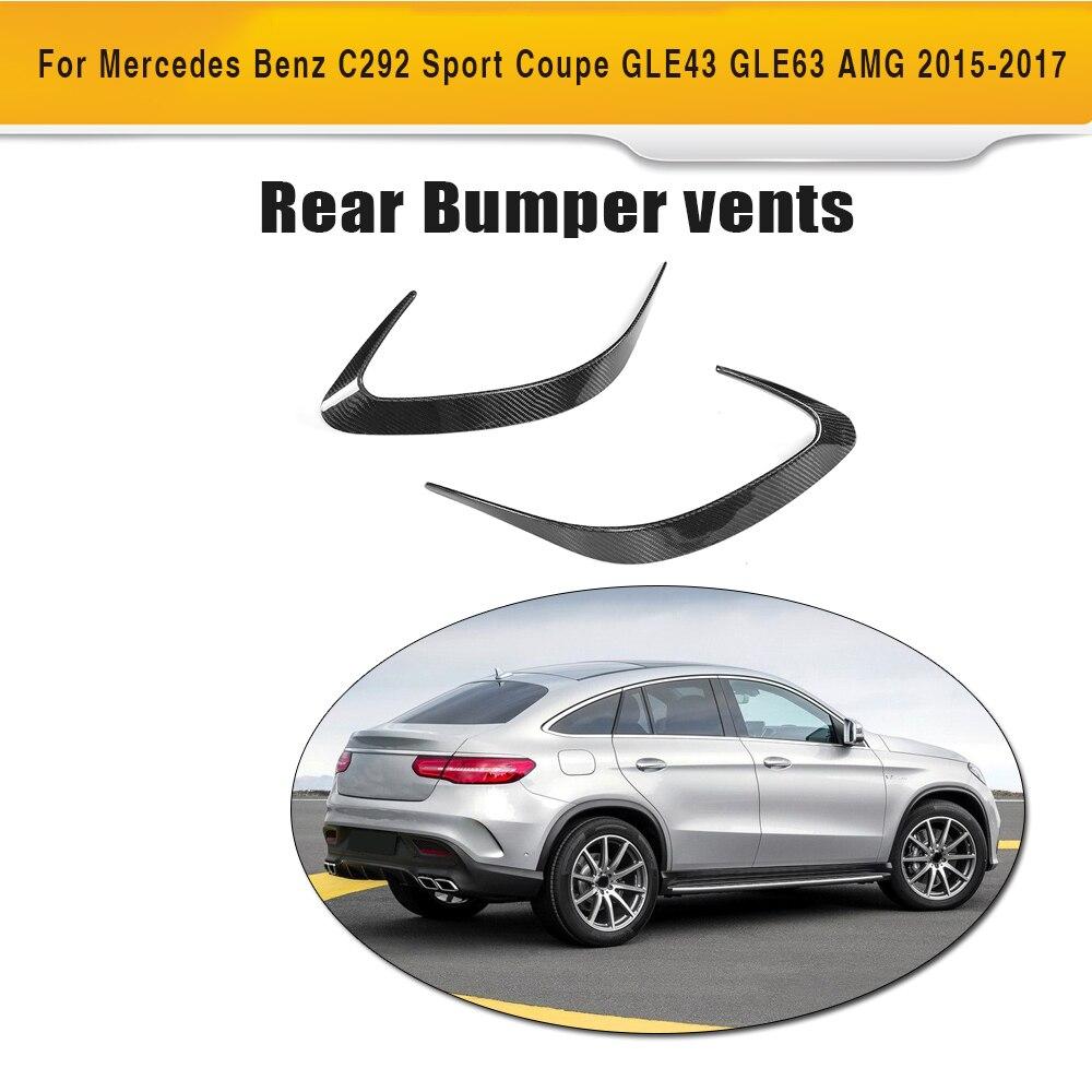 GLE Classe Arrière pare-chocs Côté Tronc décoration Vent Ailes pour Mercedes Benz C292 SUV 4 Porte 15-17 GLE43 GLE63 AMG 2 pc En fiber de Carbone