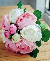 Ücretsiz kargo İpek/Simülasyon/Yapay çiçek Camellia Romantik, pembe Düğün/Gelin buketi (1 adet/grup) 004014001