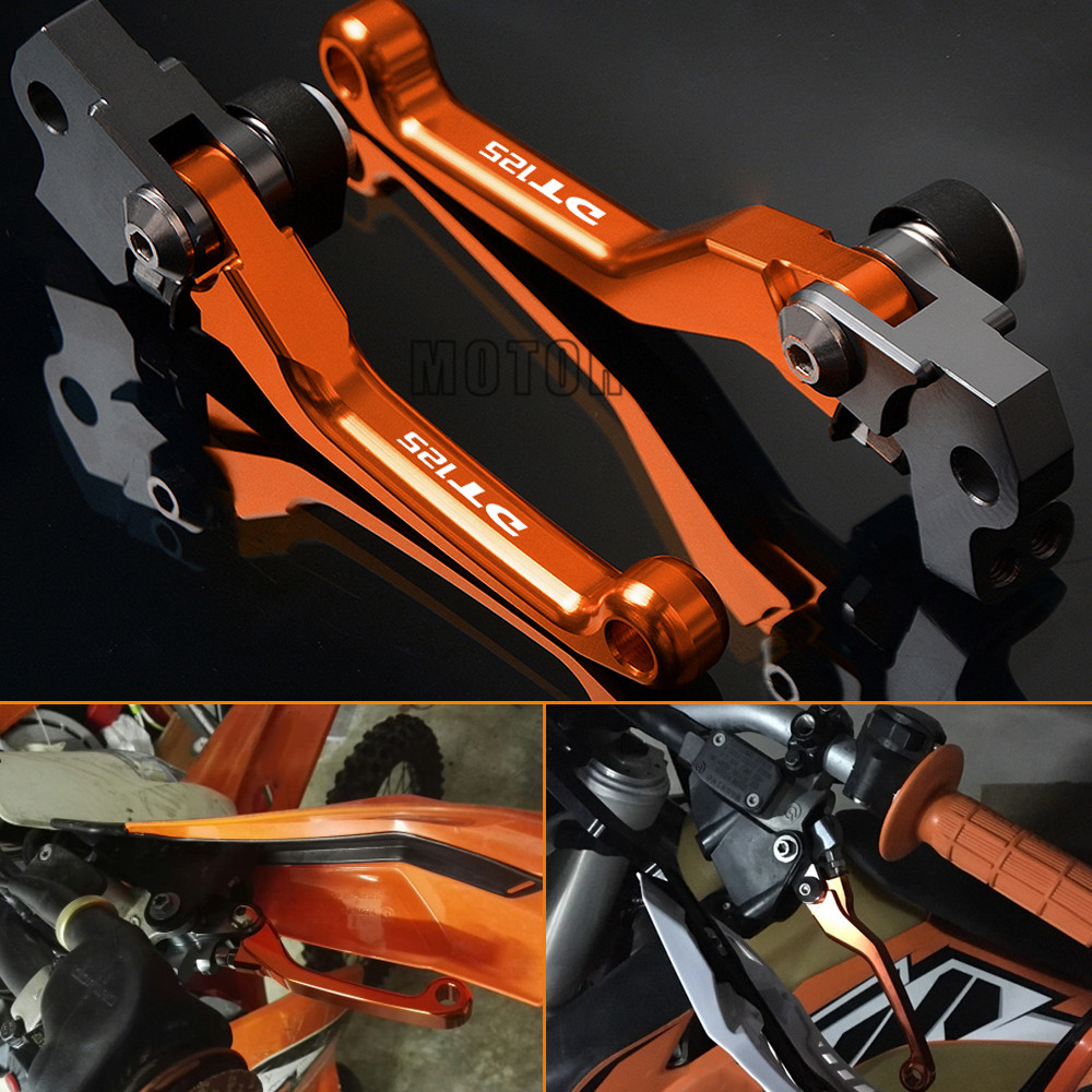 CNC Aluminum Brake Clutch Lever Handle Motocross Motorbike Accessories For <font><b>YAMAHA</b></font> DT125 1987-2005 <font><b>DT</b></font> 125 D T Pit Pivot dirt bike image