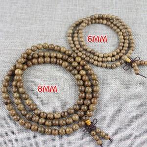 Image 3 - Yanqi chicken wing wood Buddhist Prayer Beads Tibetan Mala Buddha Bracelet Rosary Wooden Bangle women men jewelry pulseira