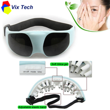Electric eye massager, Vibration Release relax, adjustable head belt, Medical silicone Rubber camilla masaje relax Portable