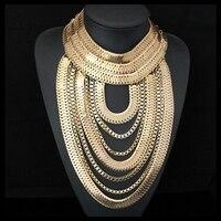 Cirgen moda gothic ciała 6 kolory węża masywny łańcuch wielowarstwowy handmade bijoux oświadczenie choker naszyjnik kobiety biżuteria, c13