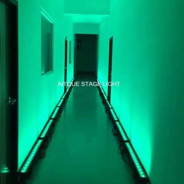 12lot Projector for outdoor high power led rgbwa uv bar 14x18w cob dmx wall washer rgbwa uv IP65 matrix light
