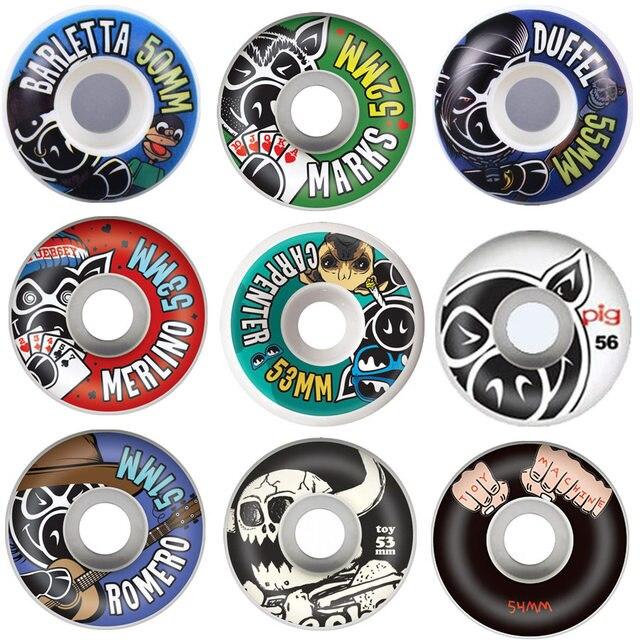 84d24b8914ba1 EUA MARCA MENINA PORCO 4 pçs set Pro 50   52   53   54   55mm EUA cor mudou  rodas De Skate Rodas de skate para Ruedas Patines de Plástico em Skate ...