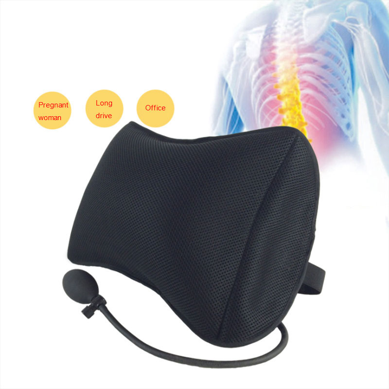 Portable Lumbar  Pillow For Car And Office Chair With Pump Massage To improve posture 4