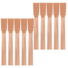 Acoustic Guitar Neck for Guitar Parts Replacement Luthier Repair Diy Unfinished Mahogany Head Veneer Pack of 10