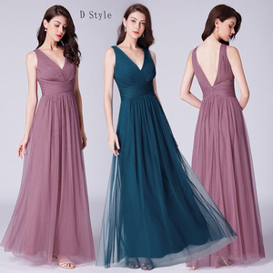 Image 4 - Bridesmaid Dresses 2020 Ever Pretty 5 Style Womens Fahion A line V Neck Elegant Long Chiffon Wedding Party Gowns