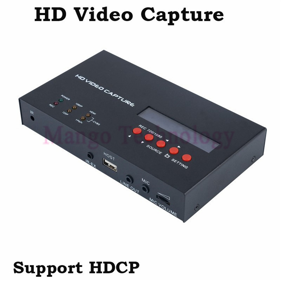 2018 eZcap283 YPbPr Recorder Box With Scheduled Recording 1080P HDMI Game Capture for XBOX One/360 PS3 HD Video Capture hd game video capture card 1080p hdmi ypbpr recorder for xbox one 360 ps3 ps4 with one click no pc enquired no any set up