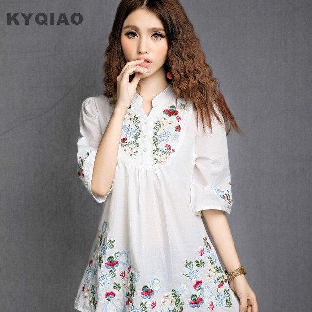 Блуза с вышивкой | Алиэкспресс