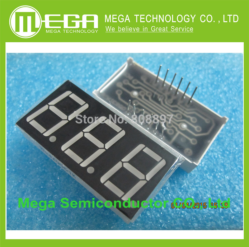 100 PCS LD 5361AS 3 Digit 0 56 RED 7 SEGMENT LED DISPLAY COMMON CATHODE