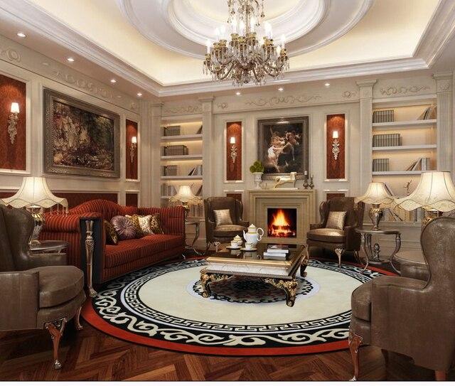 US $1246.95 15% OFF|Durchmesser 250 cm/300 cm Importe 100% reiner wolle  teppich schlafzimmer teppich wohnzimmer tisch teppich rund teppich  continental ...