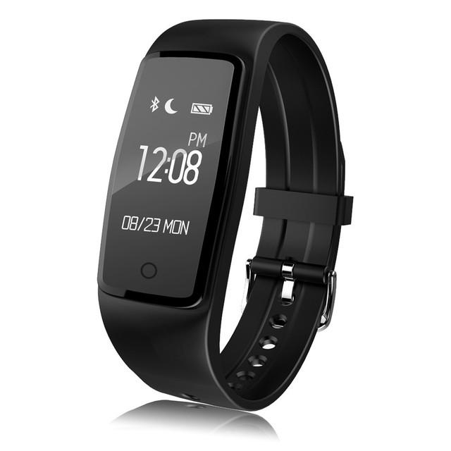 S1 Bluetooth 4.0 Banda Inteligente Pulsómetro Pulsera Smartband Remoto Cámara Pulsera Para Android IOS Teléfonos IP67 A Prueba de agua