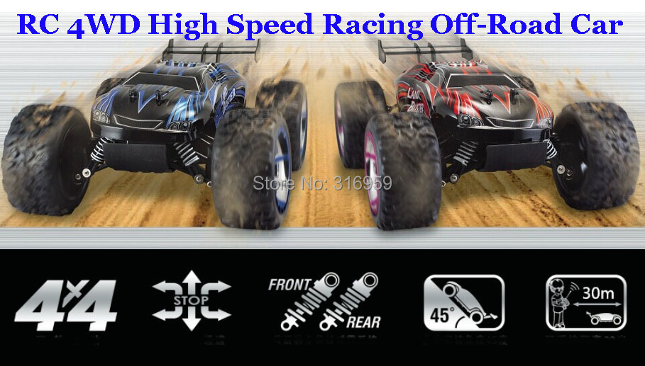 RC Car High Speed Racing Car 4x4 off road Land Buster Remote Control Sport 4WD Drift climb Car Model bigfoot car Kid Hobby Toy wltoys 12401 12402 12403 12404 2 4g 1 12 4wd remote control drift off road car bigfoot car short truck competition racing car